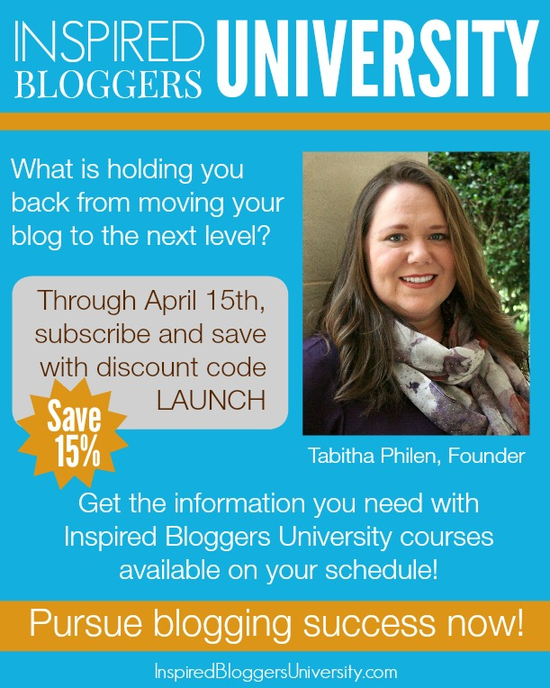 Inspired Bloggers University - online classes for bloggers with the benefit community